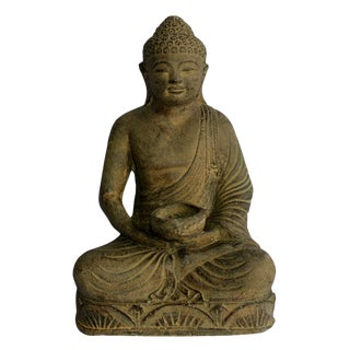 Buddha Sculpture With Candle Holder