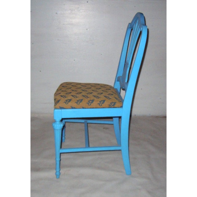 Blue Mid-Century Accent Chair - Image 4 of 8