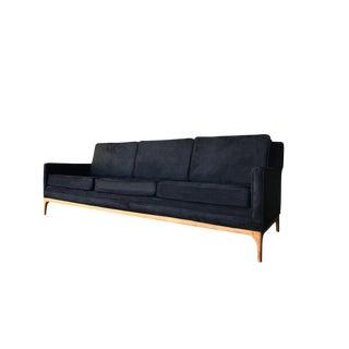 mid century suede sofa