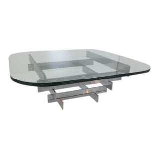 Paul Mayen Chrome Stacked Coffee Table