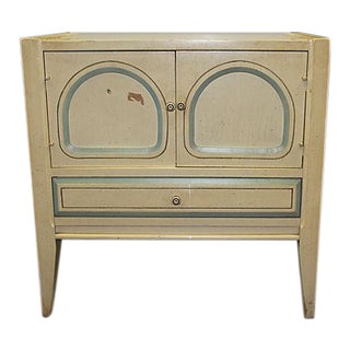 Mid-Century Cream Nightstand