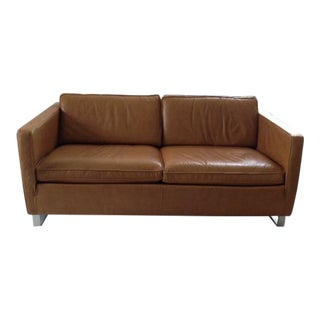 Ethan Allen Leather Two Seat Sofa