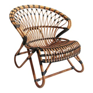 Boho Bamboo & Rattan Side Chair