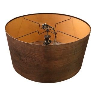 Modern Wood Drum Light Fixture
