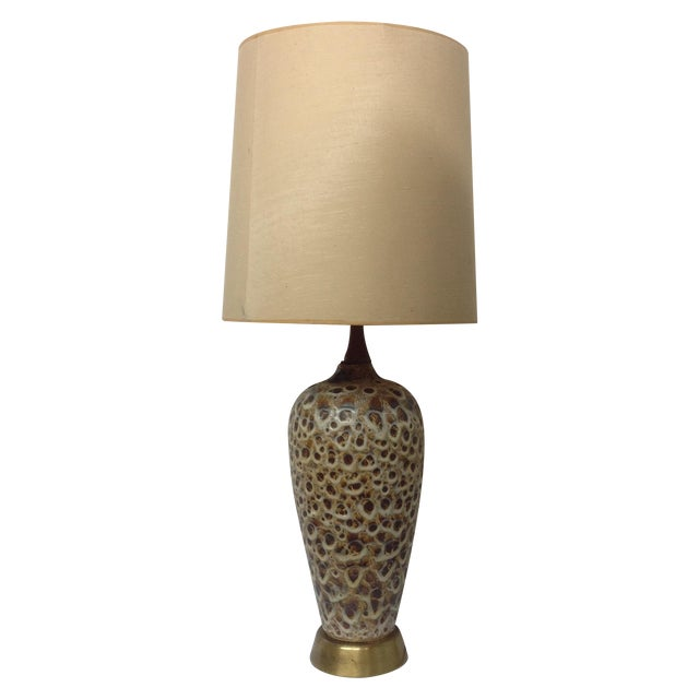 Image of Huge Mocha Fat Lava Table Lamp
