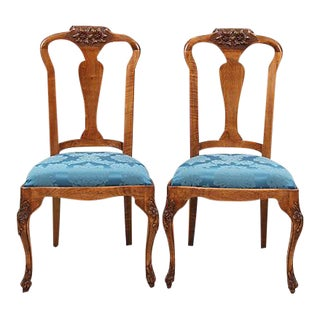 French Accent Chairs in Silk