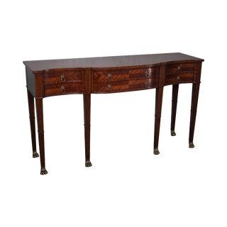 Maitland Smith Mahogany Regency Style Serpentine Sideboard