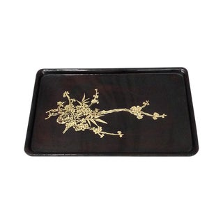 Black Rectangle Lacquer Tray