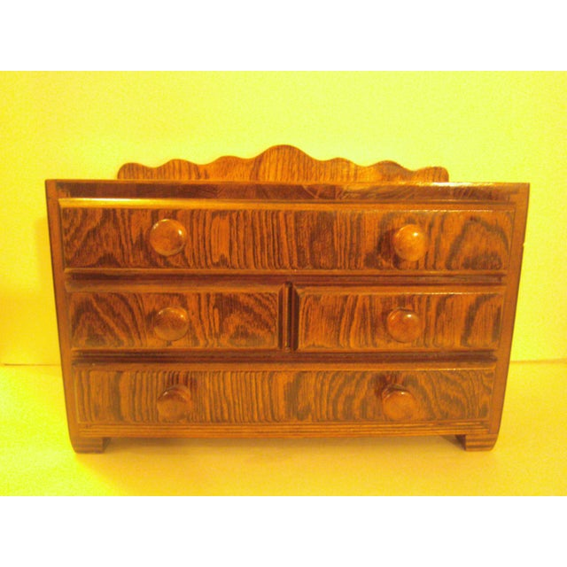 Hand Made Vintage Jewelry Chest - Image 3 of 8