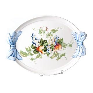 Italian Hand-Painte Platter by Marina Isetta Duval