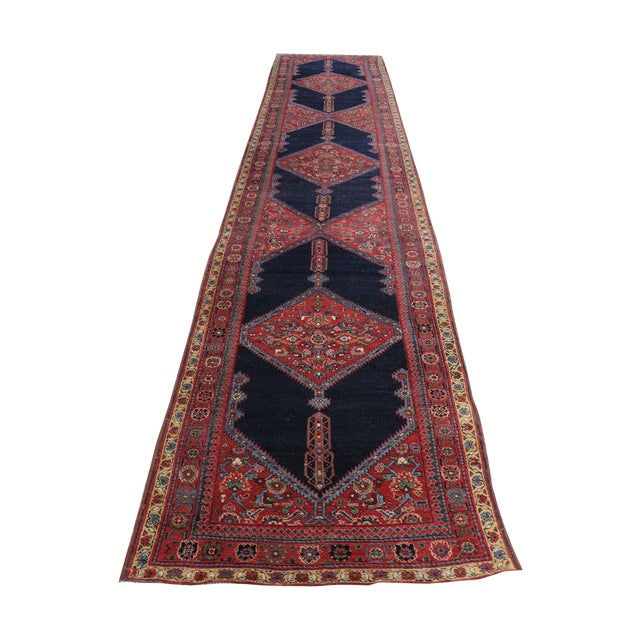 "Antique North West Persian Runner Rug - 3'5"" X 16'5"" - Image 1 of 5"