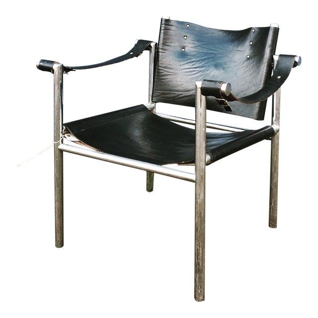 Mid Century Safari Leather Chair - Image 1 of 11