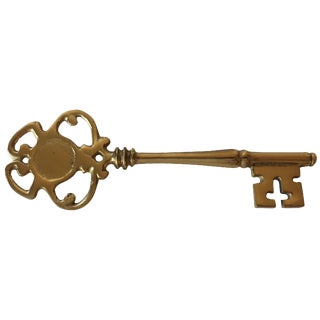 Vintage Brass Skeleton Key