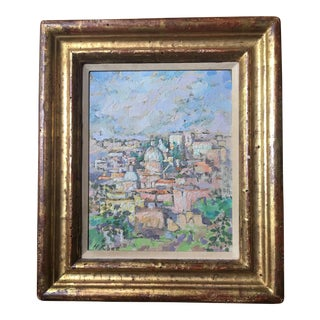 Cityscape Oil on Canvas Signed H. Rose