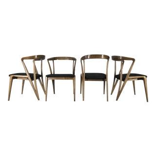 Bertha Schaefer Sculpted Dining Chairs - Set of 4