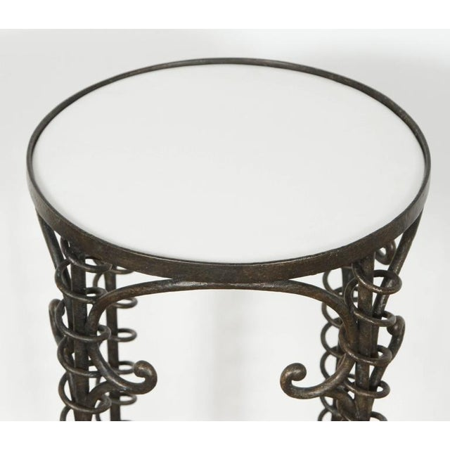 Sculptural Bronzed Iron Side Table - Image 5 of 7
