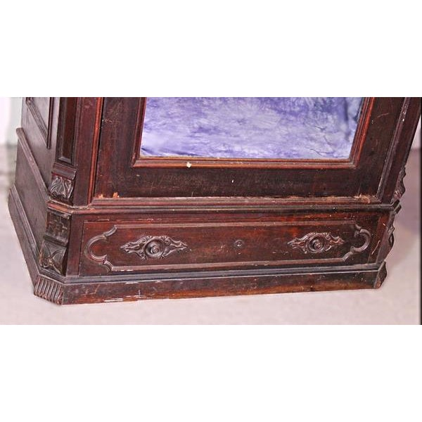 Antique Victorian American Mirrored Armoire - Image 6 of 10