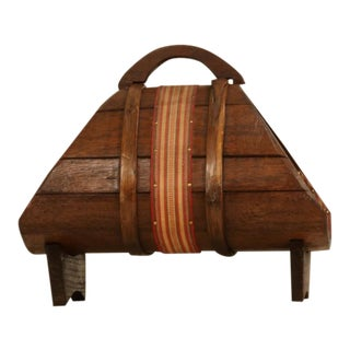 Italian former wine production wooden magazine holder, 1940s