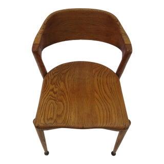 Mid-Century Modern Oak Desk Chair
