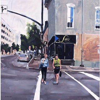 David Shingler Painting - Sitti, Raleigh Cityscape. Nc