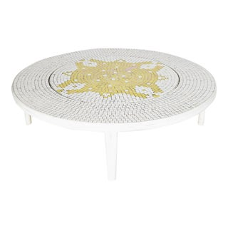 Vintage Modern Mosaic Tile Table