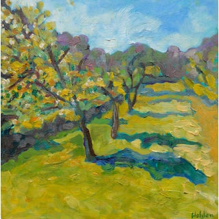 French Orchard in the Spring Plein Air Painting