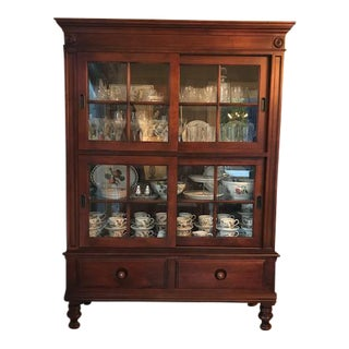 Ethan Allen Lighted China Cabinet