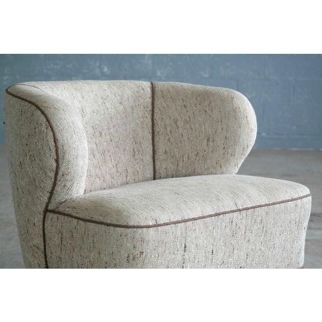 Viggo Boesen Attributed Danish Modern Lounge Chair 1940s - Image 7 of 11
