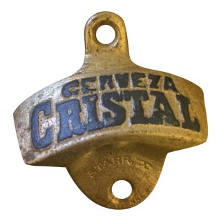 1950s Cerveza Cristal Wall Mount Bottle Opener