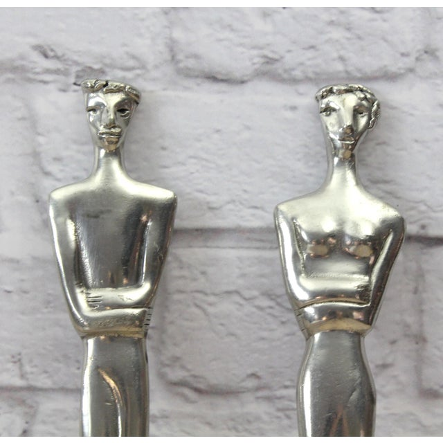 Image of South African Woman & Man Salad Servers - A Pair