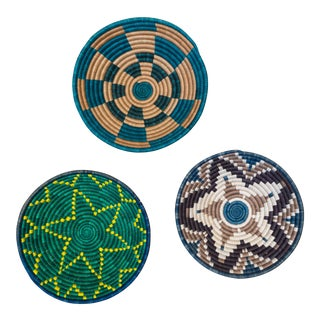Hand Woven Rwandan Baskets -Set of 3