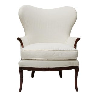 Antique White Wingback Chair