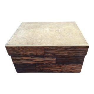 R & Y Augousti Shagreen & Wood Box