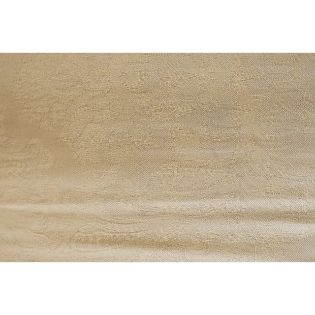 Image of Henredon Mahogany & Gold Bench
