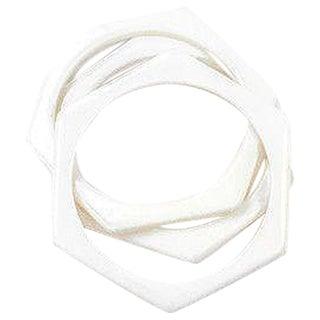 70'S White Geo Bangle Bracelets