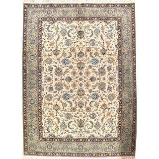 "Pasargad N Y Signed Persian Kashan Handmade Hand-Knotted Lamb's Wool Rug - 9'4"" X 12'6"""