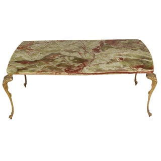 French Rococo-Style Onyx Cocktail Table