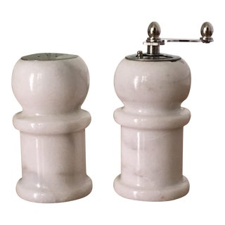 White Marble Salt and Pepper Shakers