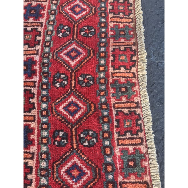 "Vintage Persian Yalameh Area Rug - 7'8"" x 9'7"" - Image 10 of 11"