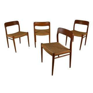 Model 75 Danish Teak Chairs by Niels Moller - 4