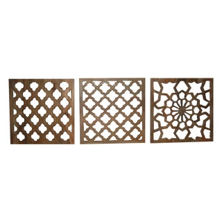 Decorative Wood Panels - Set of 3