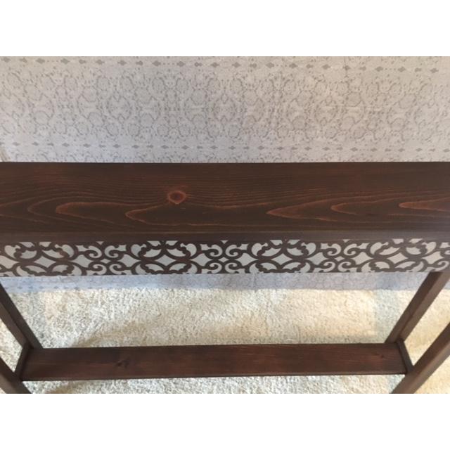 Rustic Pine Console Table Chairish
