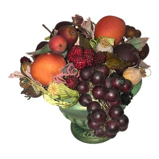1950 Kitsch Ceramic & Composition Fruit Bowl
