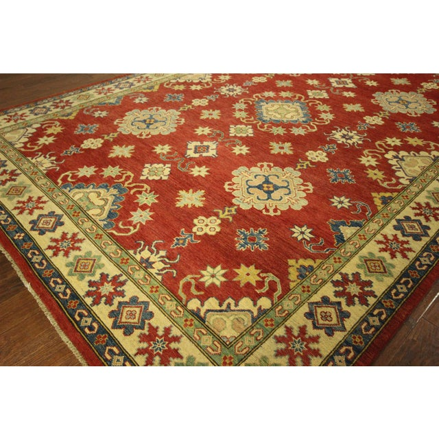 Super Kazak Hand Knotted Rug Red - 9' x 12' - Image 5 of 11