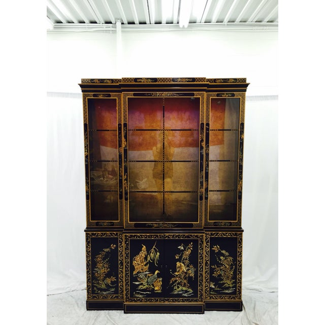 Vintage 1980s Drexel Heritage Asian Chinoiserie China Cabinet - Image 4 of 11