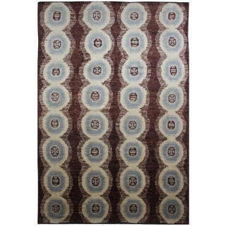 "Aara Rugs Inc. Hand Knotted Ikat Rug - 8'10"" x 12'3"""