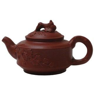 Chinese Zisha Teapot Tree Root & Flowers Design