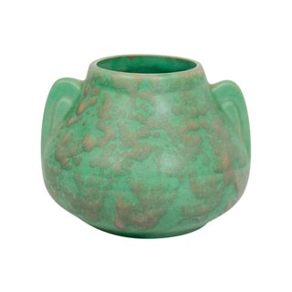 Arts & Crafts Green Pottery Vase