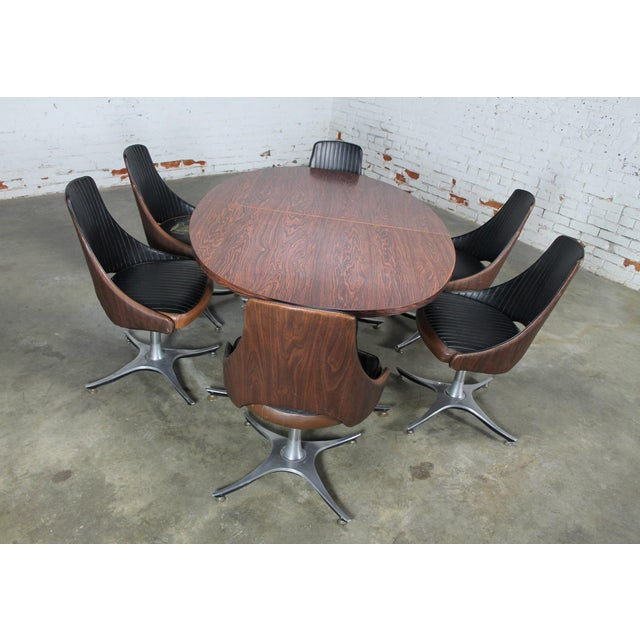 Image of Mid-Century Dinette Set With Aluminum Base