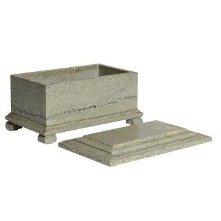 Swedish Limestone Lidded Box